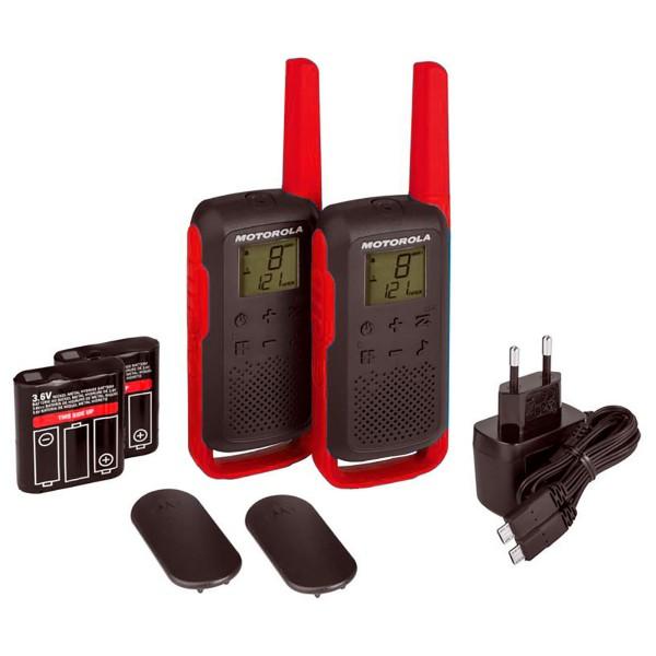 Motorola talkabout t62 rojo walkie talkies 8km 16 canales pantalla lcd