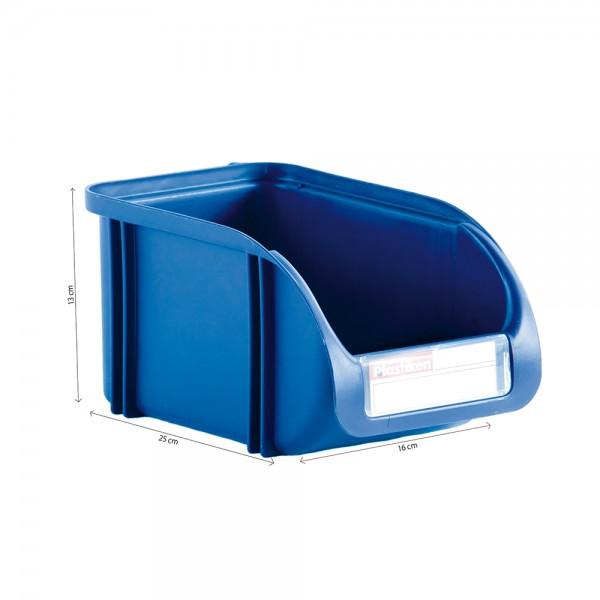 Contenedor 16cm titanium azul